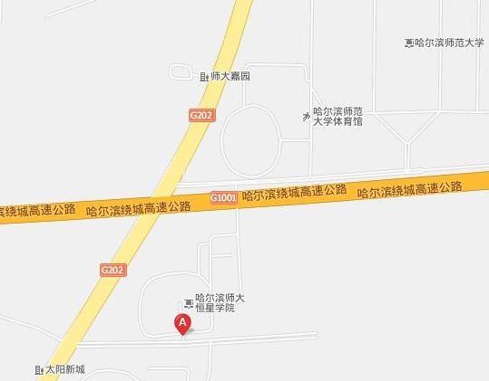 哈尔滨江北学院路地图